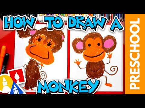 How To Draw A Monkey – Preschool