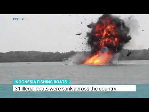 31 illegal fishing boats sank across Indonesia