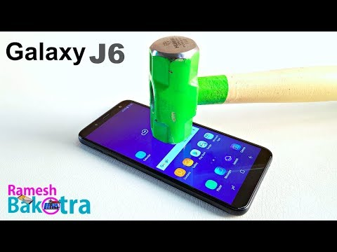 Samsung Galaxy J6 Screen Scratch proof glass test