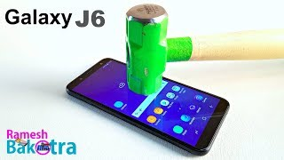 Samsung Galaxy J6 Screen Scratch proof glass test