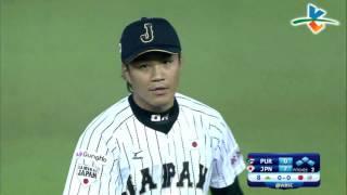 20151116 八局上 日本隊投手則本昂大美技守備