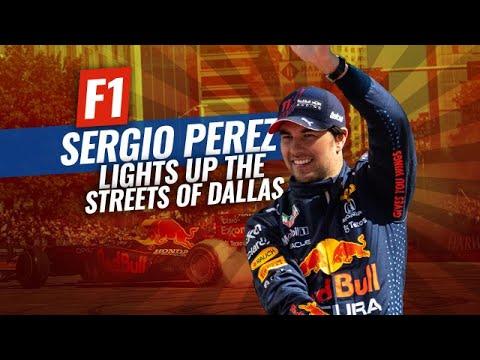 Download Red Bull F1 driver Sergio Perez Thrills Dallas Fans with Showrun