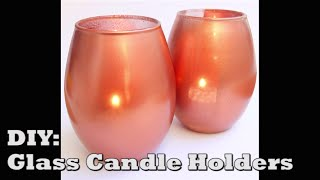 ✯☃� DIY Candle Holder from a regular glass =) �☃✯