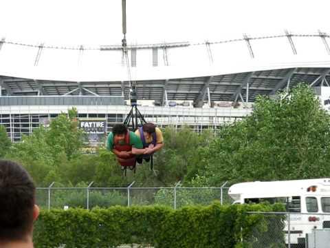 Kaz and n0 ride the XLR8R at Elitch Gardens - YouTube