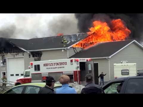 Feux a st quentin 27 avril pompier qui a eu chaud...
