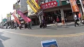 諸羅山旗隊繞境田中火車站高唱台灣翠青