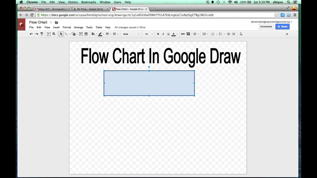 Flow Charts with Google Draw - YouTube