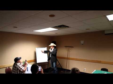 World Livestock Champion Auctioneer Matt Lowery at WWCA