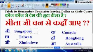 Trick to remember Countries having Dollar as Currency