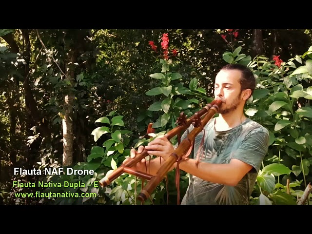 Flauta Nativa Dupla, Estilo NAF Drone E
