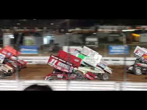 World of Outlaws Four Wide Salute at Williams Grove Speedway