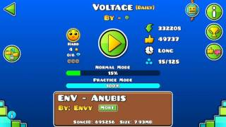 Daily Level #88 Voltage By Extrox & Lilbin (HARD) 100% All Coins [Geometry Dash 2.1]/SONEXX