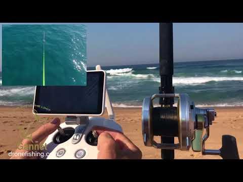 Drone fishing with a Phantom and massive Shark baits