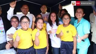 Ministra de Salud visita La Libertad para promover vacunación contra el VPH