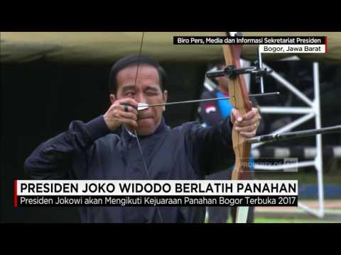 Presiden Jokowi Berlatih Panahan