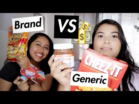 TRYING BRAND VS GENERIC FOODS! | Vlogtober Day 7