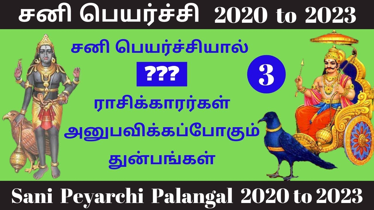 Sani Peyarchi 2020 to 2023 Tamil | Bad Predictions (Part- 3) | Sani  Peyarchi 2020