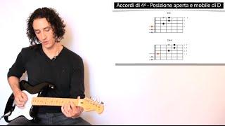 Corso di chitarra - 1.1.9 - Accordi di 4ª (sus4)