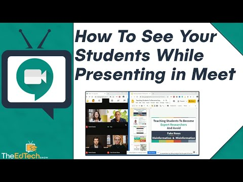 How To See Your Students While Presenting in Google Meet Tutorial