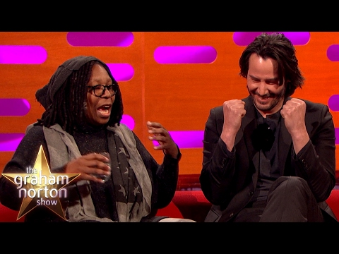 Whoopi Goldberg Freaks Out Keanu Reeves with Pubic Hair Talk