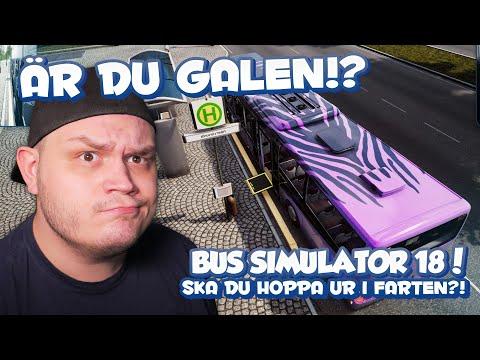 SKA DU HOPPA UR I FARTEN?! - BUS SIMULATOR 18 - LOGITECH G923  