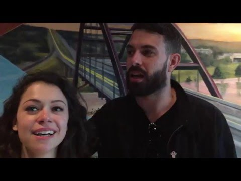 Tatiana Maslany and Tom Cullen say what giant animal they'd ride to work
