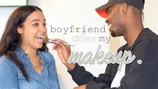 Boyfriend Does My Makeup!