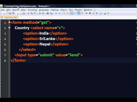 Input value using Dropdown in PHP   Hindi