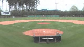time lapse icc athletics ground crew getting cresap field ready before a game