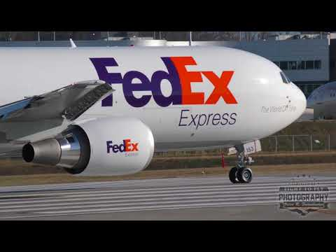 FedEx Boeing 767 - Test Flight out of Paine Field