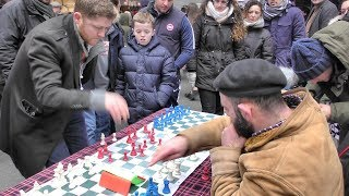 Fast Chess Played in London Street. Seen in Brick Lane, Shoreditch
