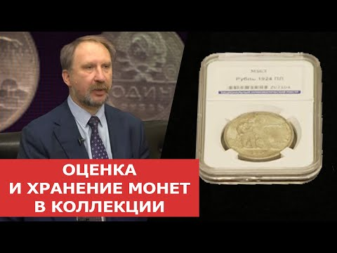 Оценка и хранение монет в коллекции.