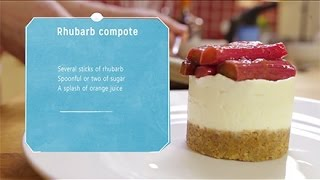 How To Make A Rhubarb Cheesecake Topping - For Cointreau And Orange Cheesecake With Rhubarb