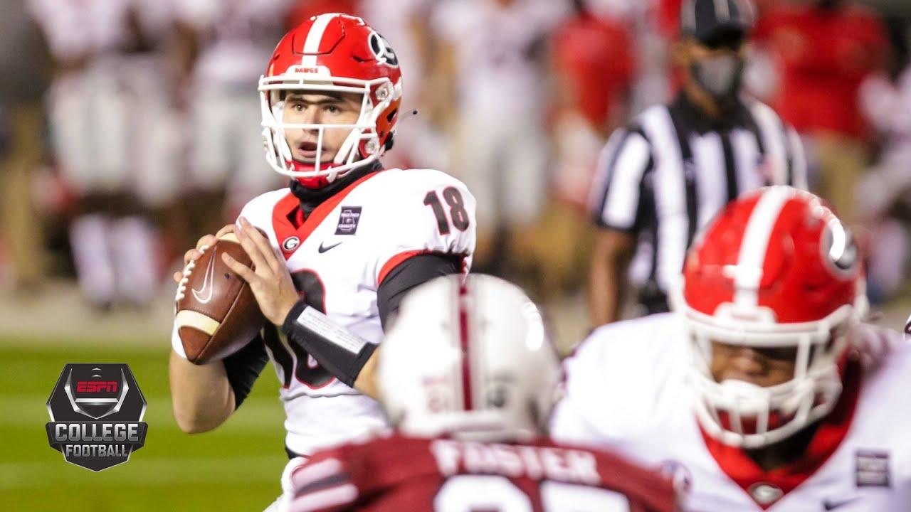 Georgia Bulldogs Vs South Carolina Gamecocks 2020 College Football Highlights Youtube