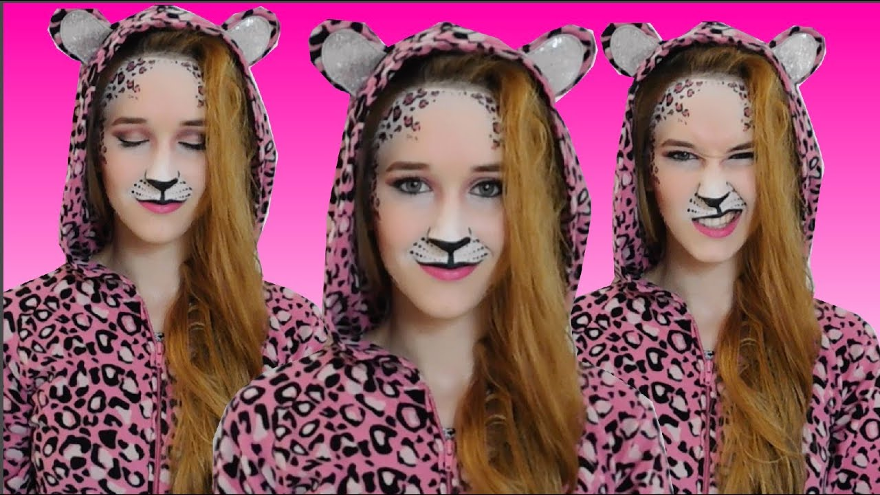 Pink leopard makeup