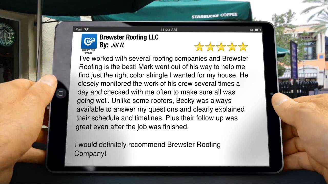Brewster Roofing (Peculiar, MO) Amazing 5 STAR Review By Jill H.