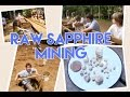 Gem mining Franklin N.C. masons ruby and sapphire mine