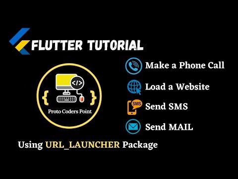 Flutter Make a phone call, send sms, send email, Load a URL using url launcher