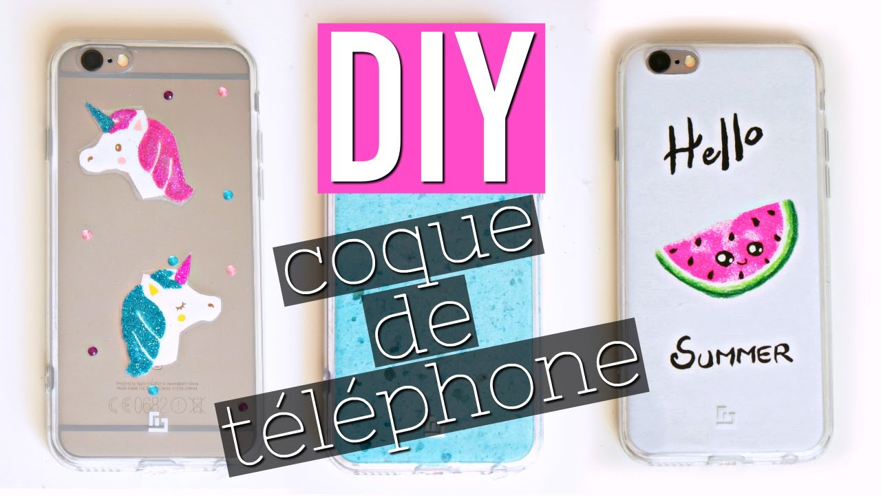 diy coque de t l phone facile kawaii fran ais 2 youtube. Black Bedroom Furniture Sets. Home Design Ideas