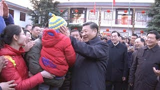 Xi bids farewell to villagers in Mazhuang village