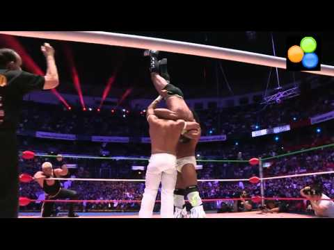 La Máscara & Rush vs Negro Casas & Shocker © for the CMLL World Tag Team Championship