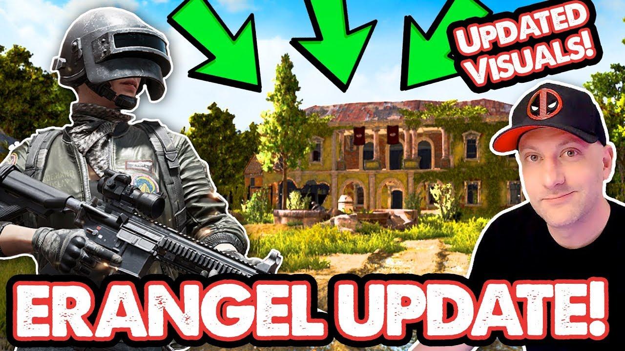 NEW Erangel Visual Update // PUBG PC Test Server // Live Stream Gameplay