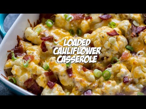 Loaded Cauliflower Casserole Recipe | Holiday Keto Side Dish