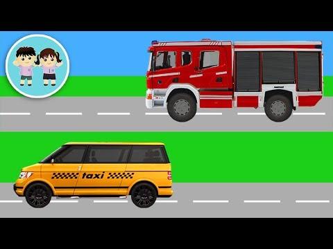 Masini De Pompieri Si Taxi - Invatam Ordinea Obiectelor - Copilasi Dragalasi
