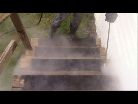 BW Powerwashing Langley   Cleaning A Slippery Wooden Deck Or Patio Stairs  And Killing The Algae