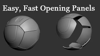 Max and Zbrush - Easy and Fast Opening Panels