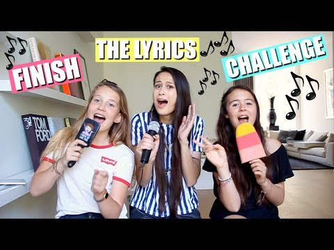 FINISH THE LYRICS CHALLENGE MET MEISJEDJAMILA! | KARAOKE CHALLENGE