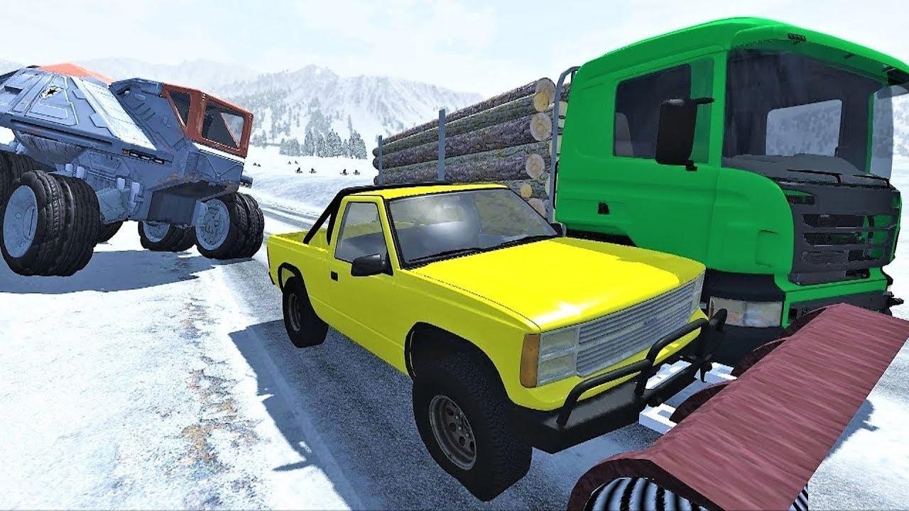Мультики про машинки - Новый мультфильм для детей про опасное вождение и снег.