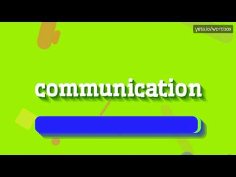 COMMUNICATION - HOW TO PRONOUNCE IT!? (HIGH QUALITY VOICE)