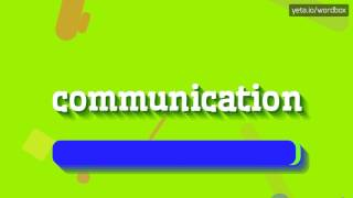 Download lagu COMMUNICATION HOW TO PRONOUNCE IT MP3
